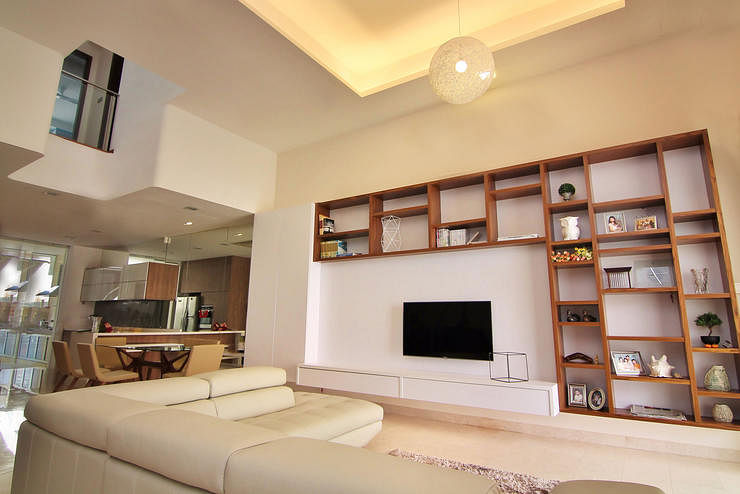10 elegantly clean cut tv console and feature wall design for Interior feature wall designs
