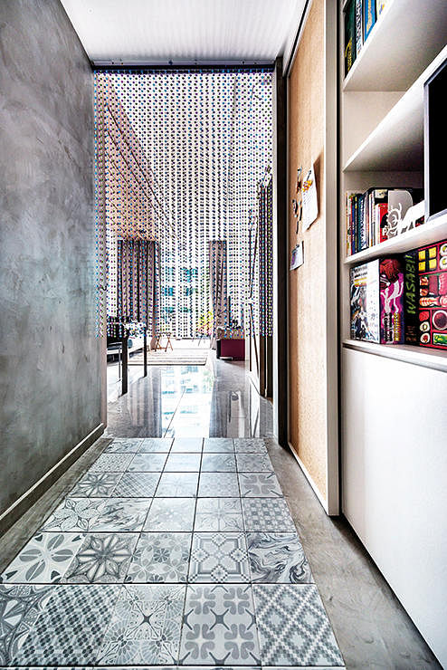 corridor, tiles, concrete, passageway, renovation, home and decor