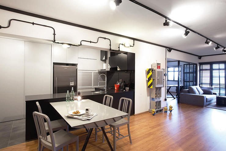 An industrial HDB flat thats more sleek than rough Home Decor