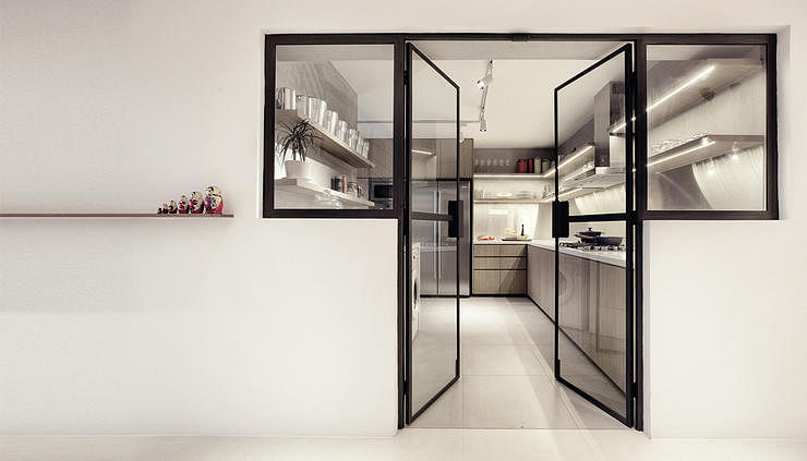 More glass more class home decor singapore Kitchen door design hdb