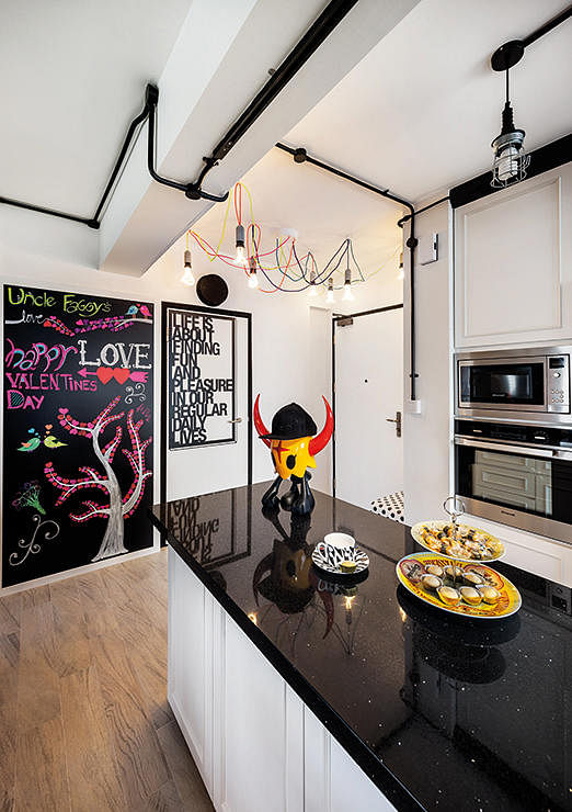 5 tips to nail the industrial look home decor singapore for Hdb household shelter design
