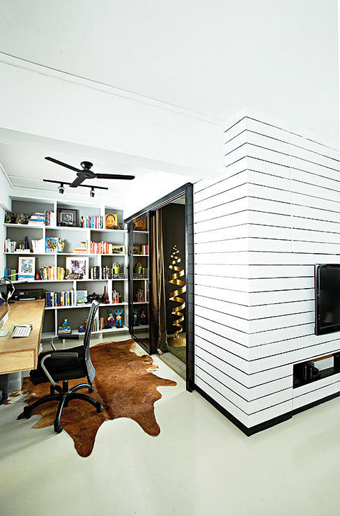 Hdb Study Room Design Ideas: House Tour: A Three-room HDB Flat That's A Stylish