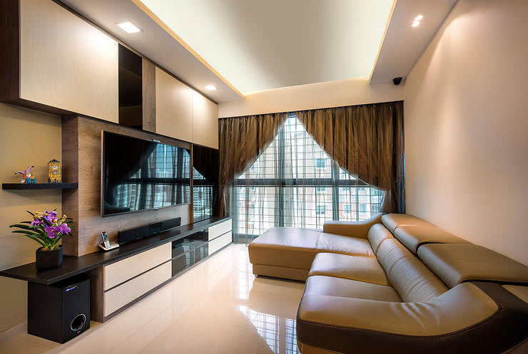 Resort like practical and timeless this living room for Simple living room design singapore