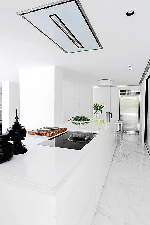 Kitchen Design Ideas A Galley Style Kitchen With An Island Counter Home Decor Singapore