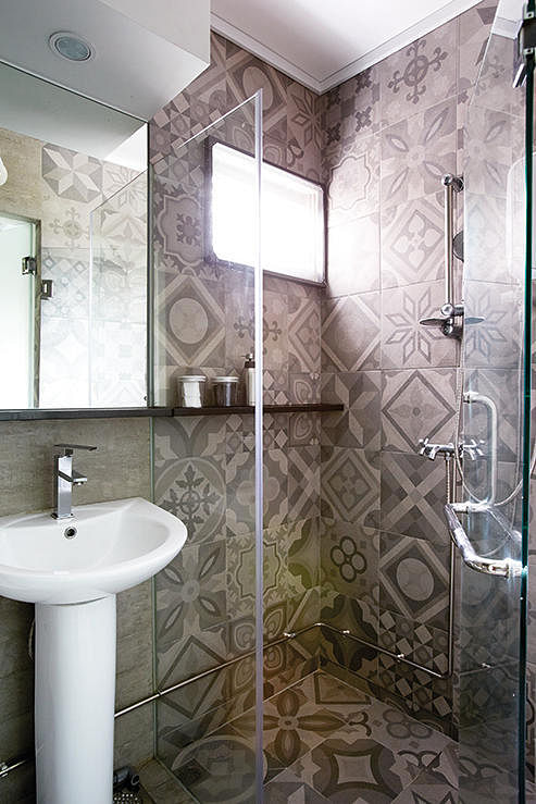 bathroom, renovation, wall finisihes, wall materials, pattern, tiles