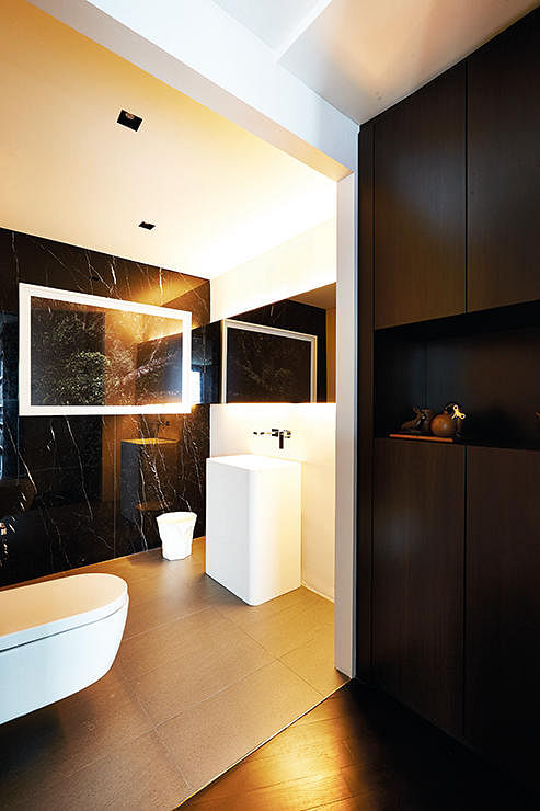 bathroom, renovation, wall finisihes, wall materials, marble