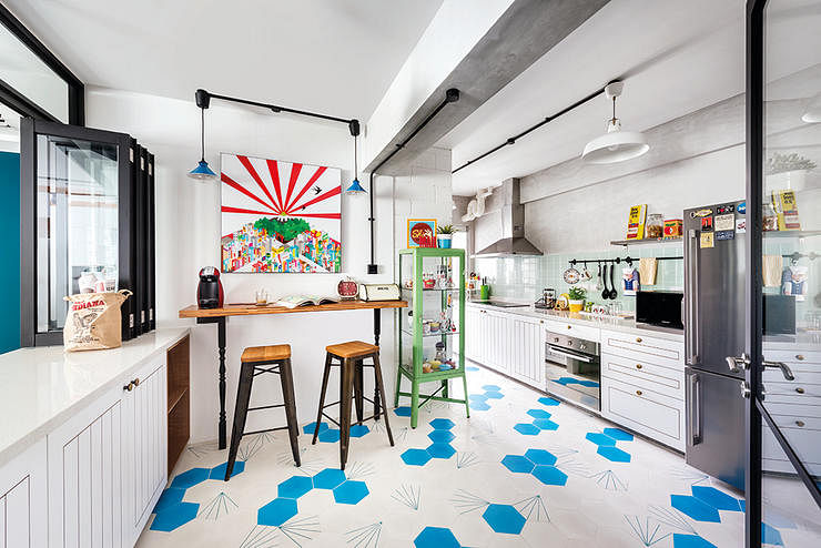 13 spaces you wouldn 39 t believe are from hdb flats home decor singapore Kitchen door design hdb