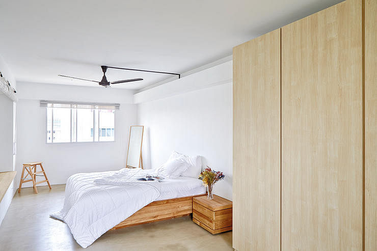 Real wood laminate or veneer easy ways to tell the for Minimalist interior design singapore