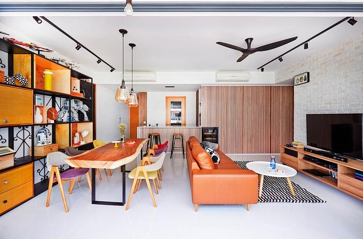 living room, bright, orange, cosy, warm, fuse