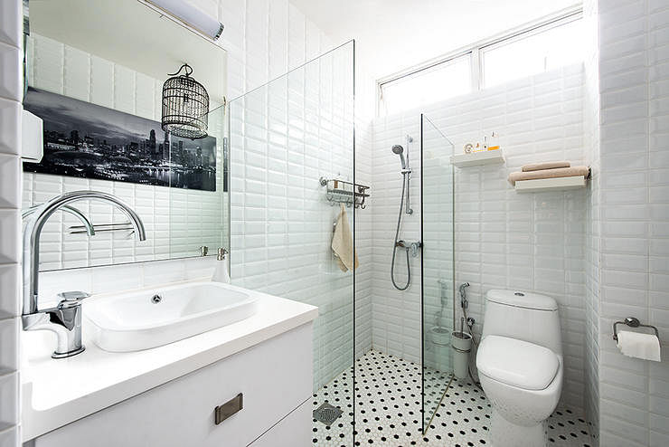 bathrooms tiles subway tiles shower