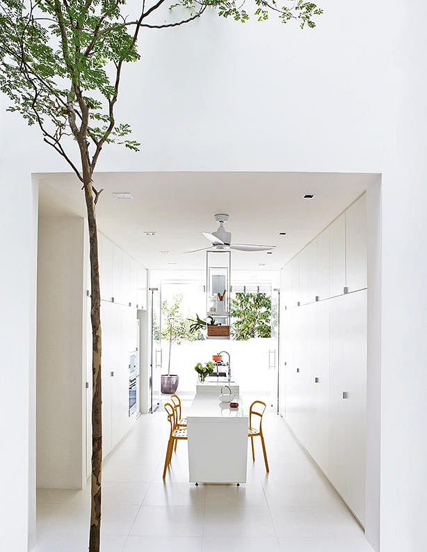 House tour a chic all white home with minimalist details for Terrace house singapore