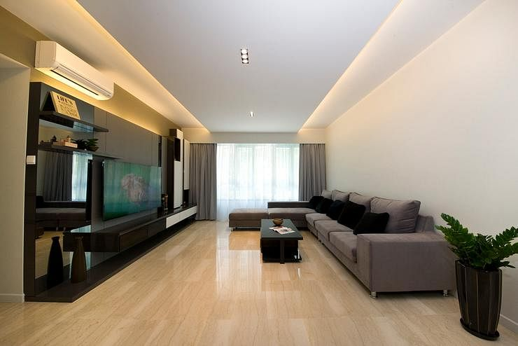 House tour a clean minimalist three bedroom condo home for Apartment design singapore