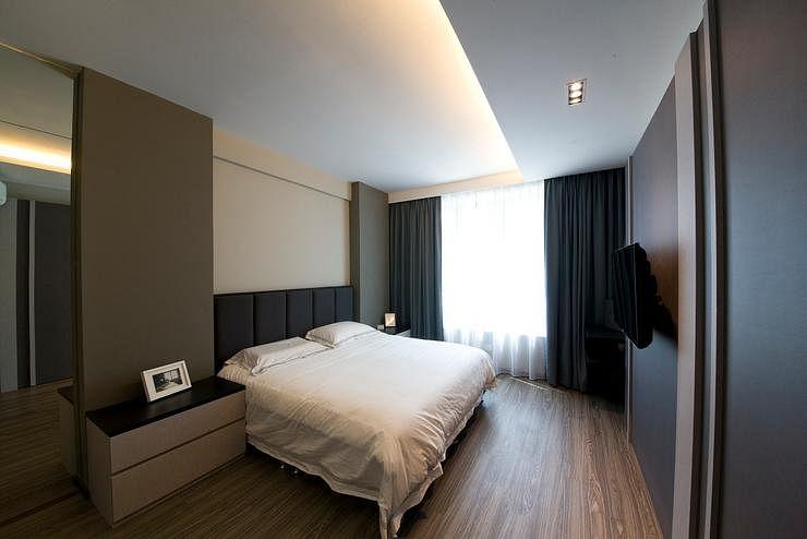 House tour a clean minimalist three bedroom condo home for Minimalist condo interior