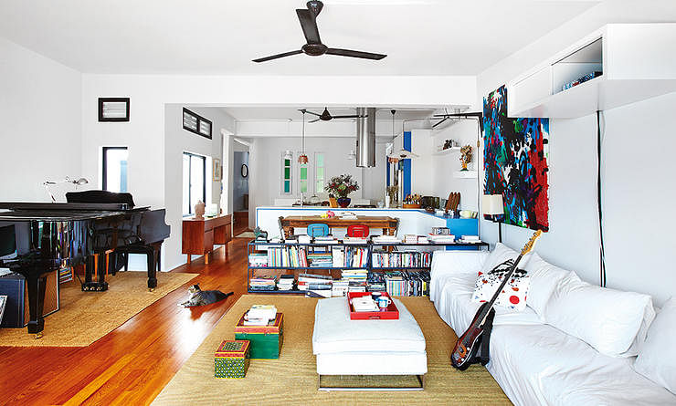 Tiong Bahru Walk Up Apartment Open Concept White Colourful