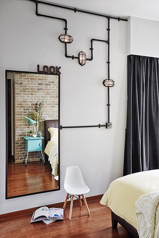 industrial bedroom lighting house tour industrial rustic and practical home amp decor 11890