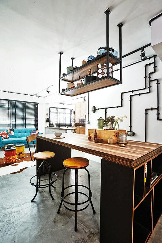 House Tour A designers rustic industrial HDB home Home Decor