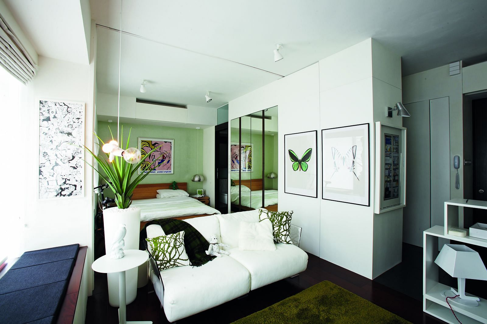 Bedroom White Walls Stylish Homes House Tours