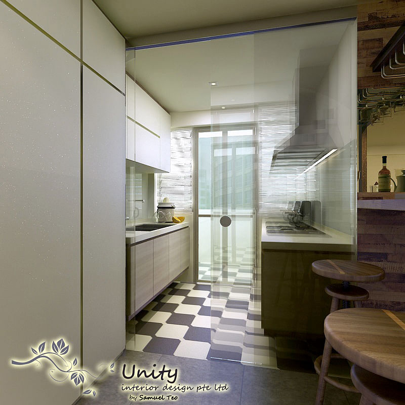 3d Perspectives Of Dry And Wet Kitchen Home Decor Singapore