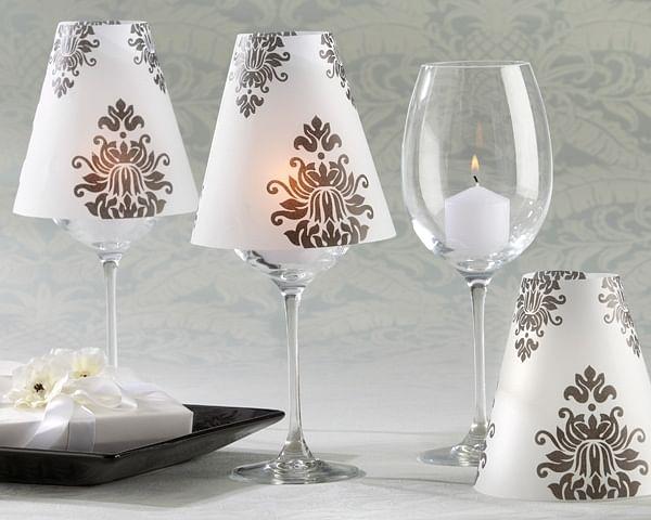 lampshades, wine glass, DIY, fun, ideas