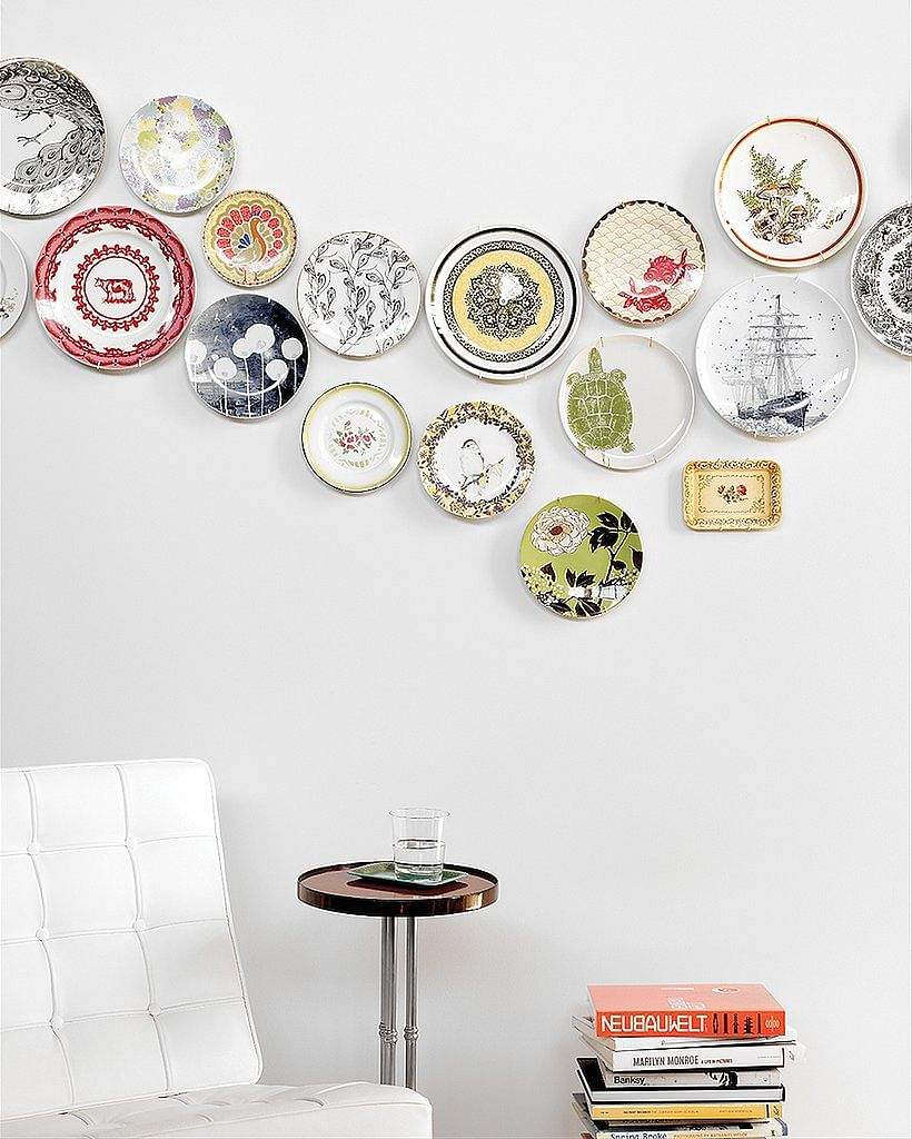 plates, vignette, feature wall