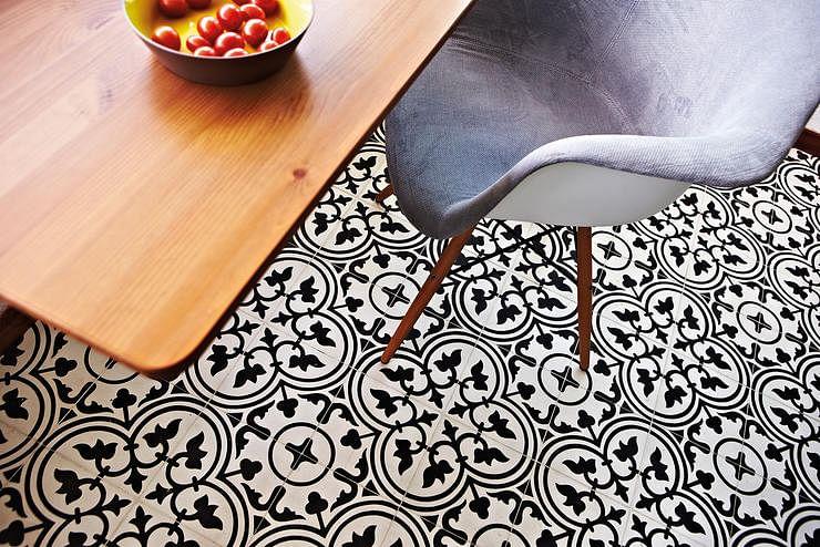Peranakan, tiles, pattern, retro, black and white