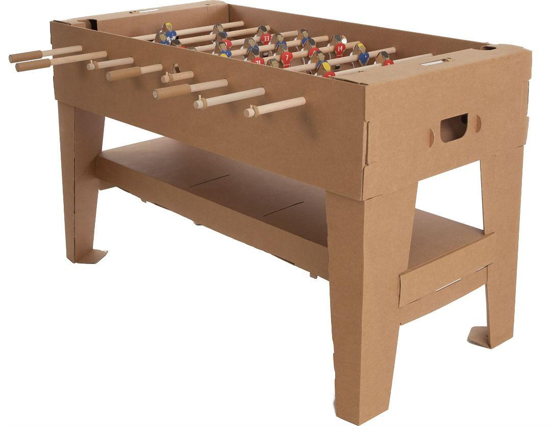 foosball, game table, cardboard, eco-friendly