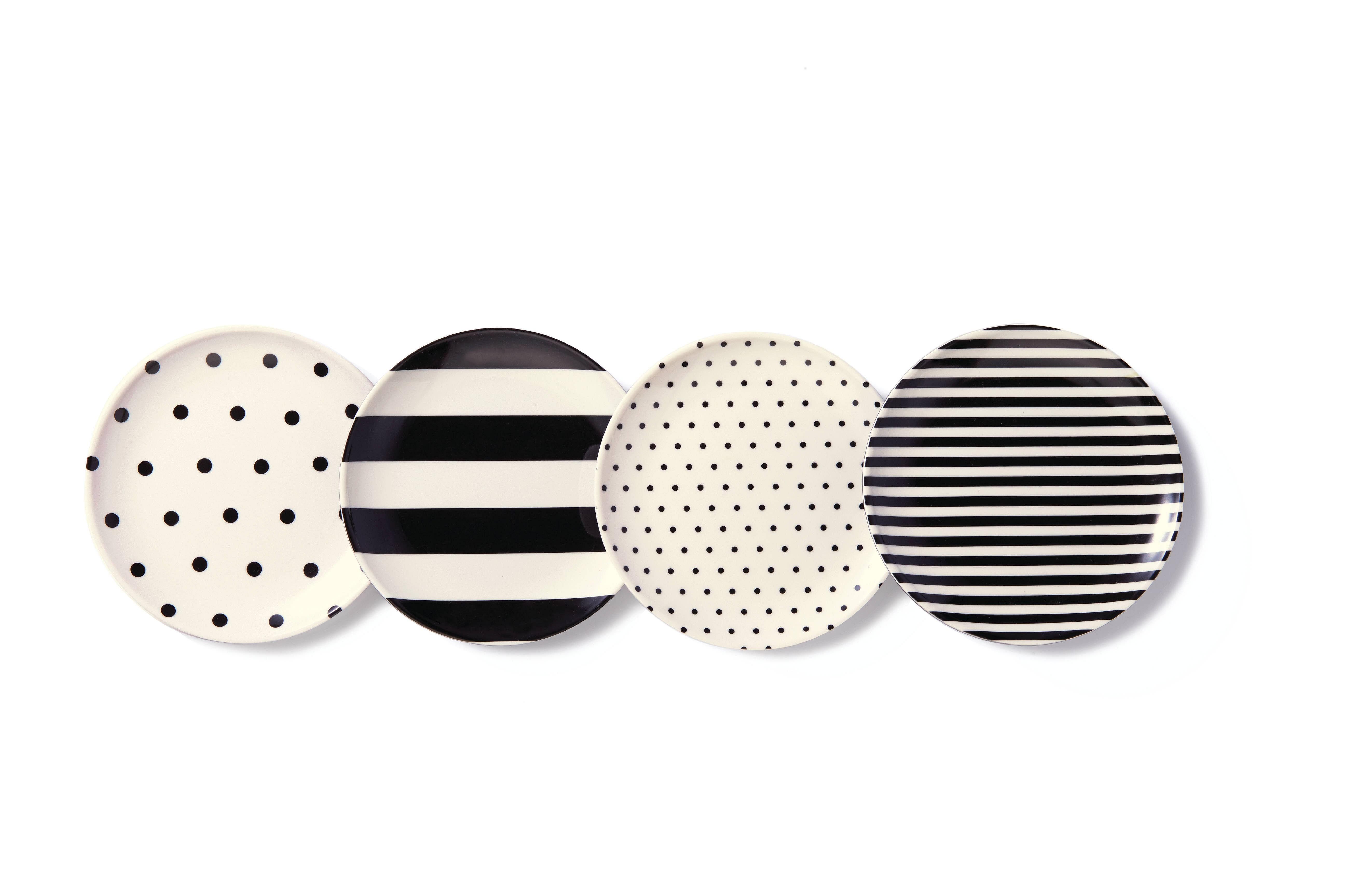 plates, polka dot, stripes, geometric pattern, tableware, melamine