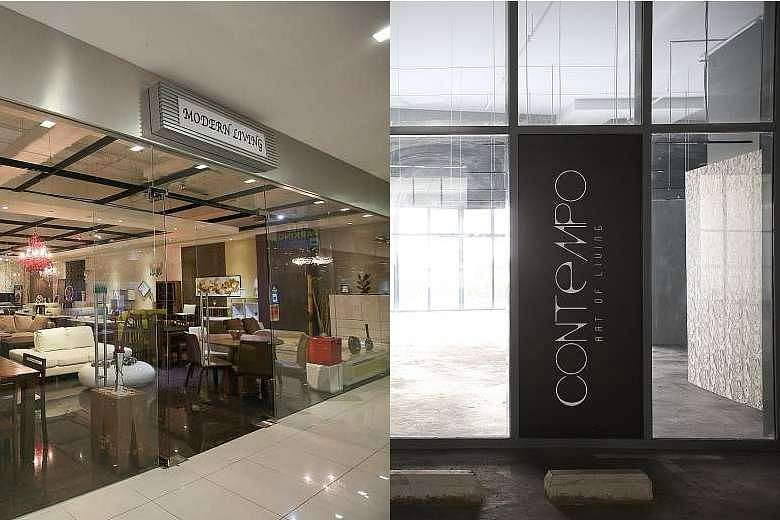 Consumers of Modern Living Furnishing (left) and Contempo Art of Living said their orders were not delivered even though they had paid deposits and, in some cases, made full payment.ST PHOTOS: ONG WEE JIN