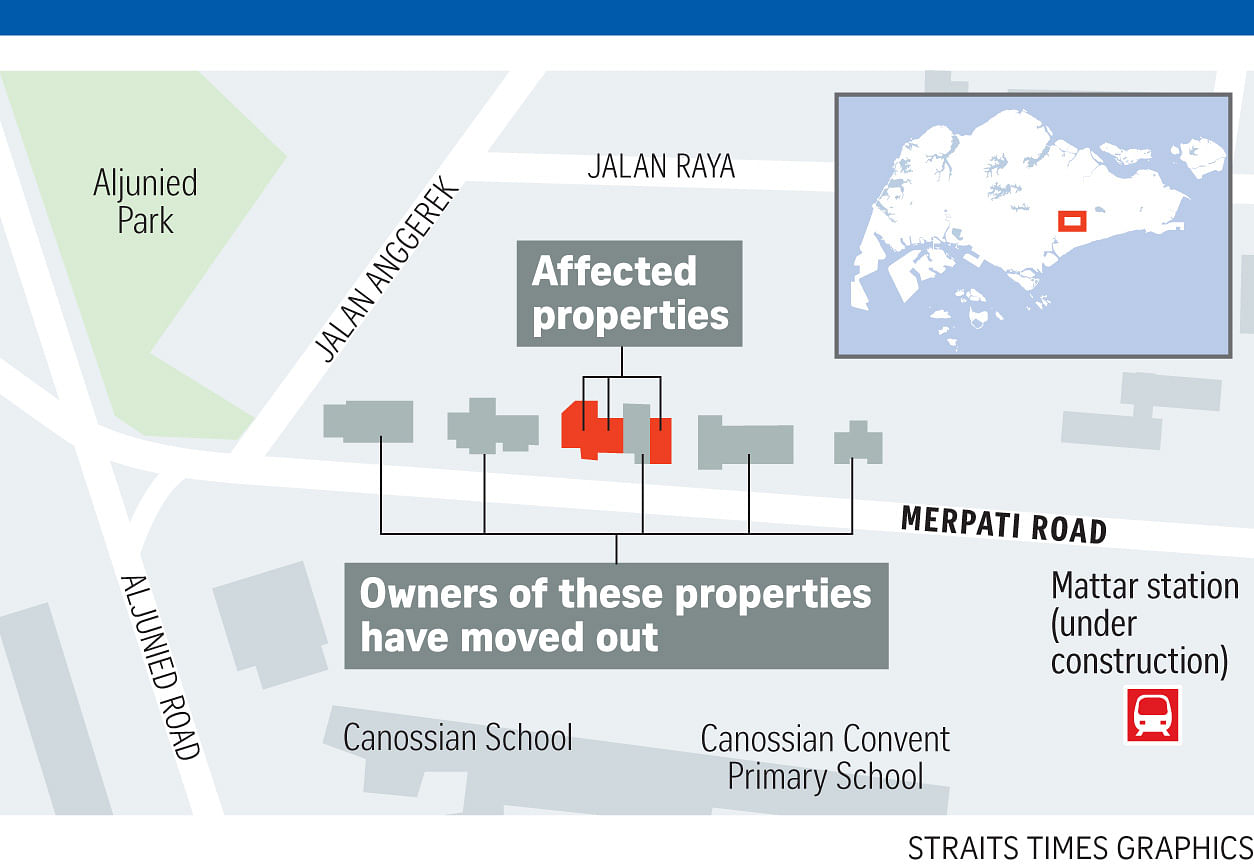 residents evicted after several extensions of deadlines at merpati road