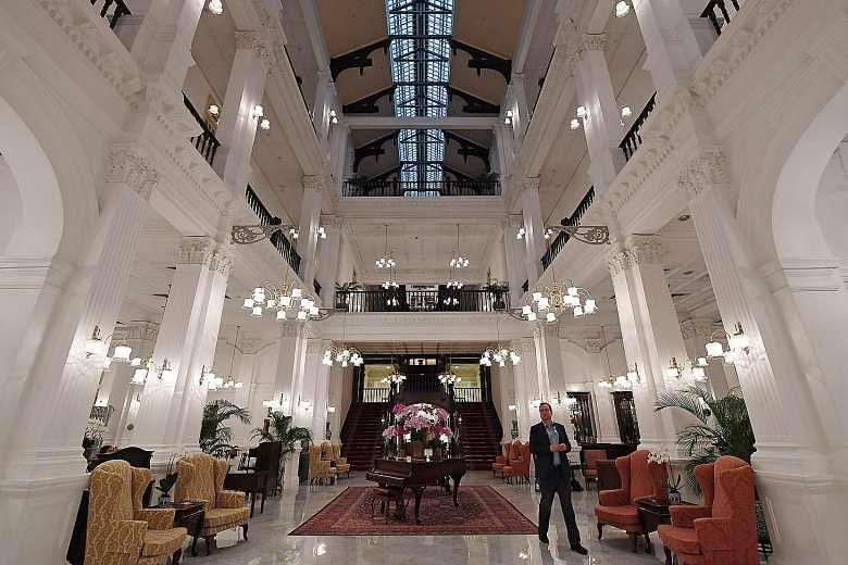 raffles hotel, renovation, restoration, hotel design, singapore hotel