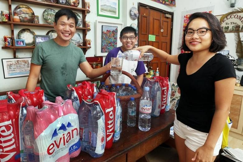 Goh family drink only bottled water at home. sales of bottled water increase many families think bottled water is healthier