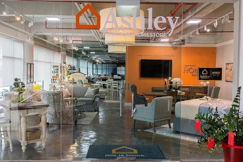 Popular American furniture store Ashley Furniture ...