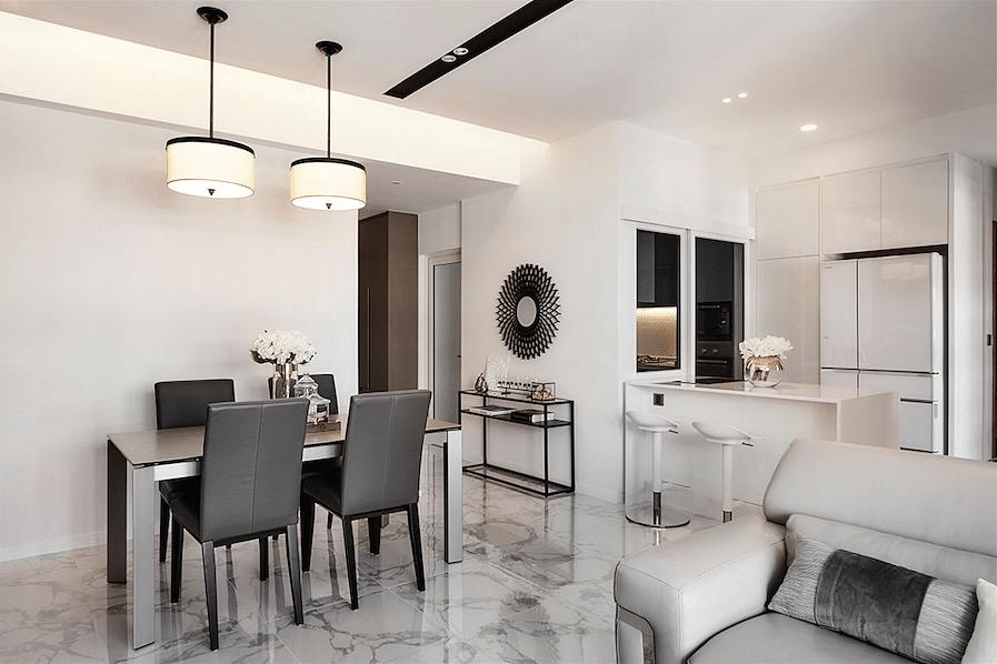 House Tours 5 Stylish Apartments With A White Grey Colour Palette Home Decor Singapore