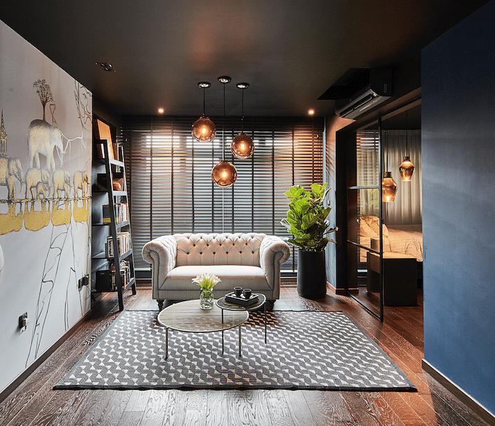 Home Design Ideas For Hdb Flats:  House Tour: Dark-coloured And Sensuous Three-room HDB BTO