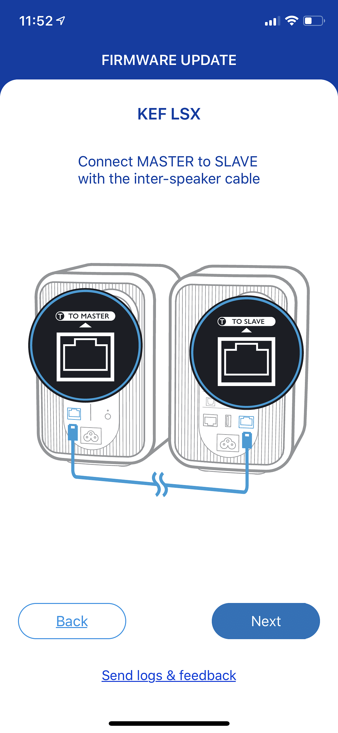 Users need to download two separate apps to operate the LSX speakers from KEF.