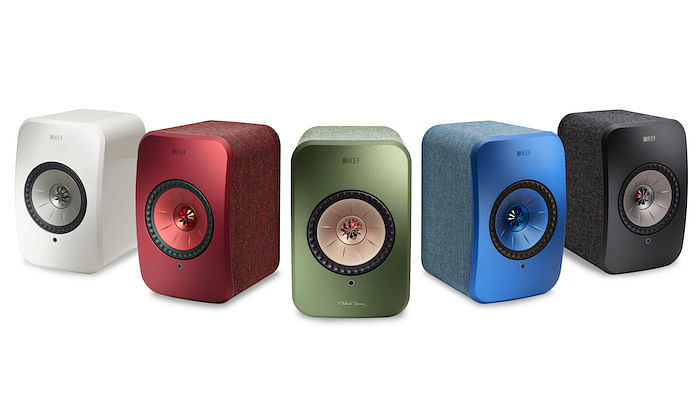 Different colours of the LSX speakers from KEF.