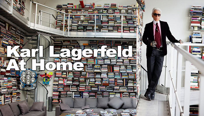 Home & Decor takes a look into Karl Lagerfeld's home