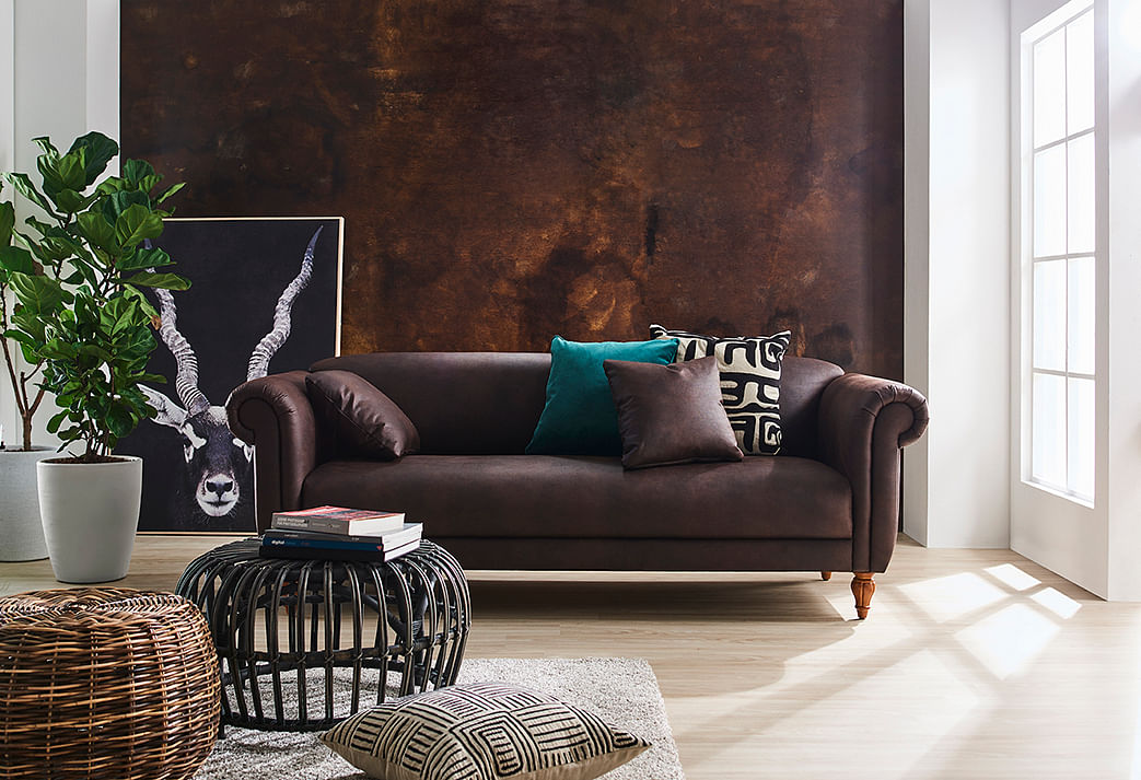 baker brown sofa