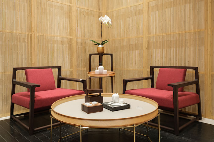 The furniture from Shang Xia are made using ancient craftsmanship from China.