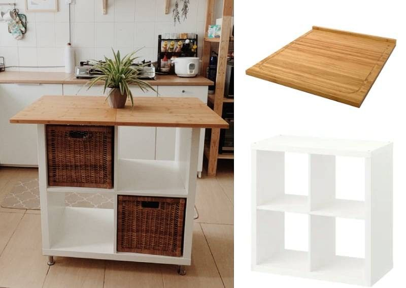 100 For A Diy Kitchen Island With This Genius Ikea Hack