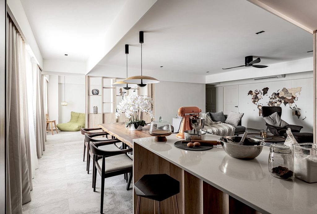 House Tour A Clean Lined 4 Room Hdb Flat Design With Eclectic Touches