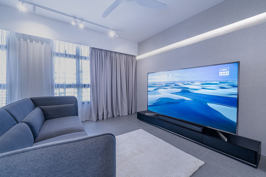 Can You Have A Big Screen Tv In A Small Space Yes Absolutely Home Decor Singapore