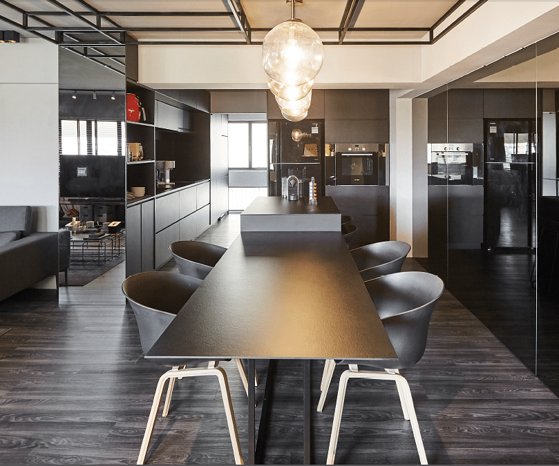 Home Design Ideas For Hdb Flats:  House Tour: A Luxe Monochrome HDB Resale Flat With A